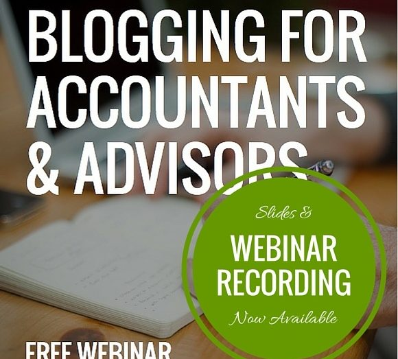 Blogging tips for accountants - Webinar recording slides