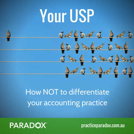 How not to differentiate and stand out in your accounting firm blog post