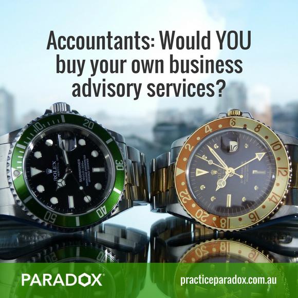 Accountants sell advisory services
