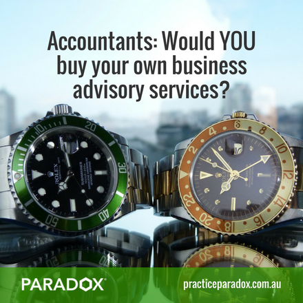 Accountants buy advisory services