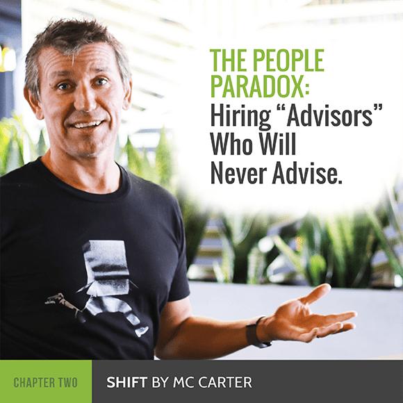 Michael Carter hiring advisors People Paradox