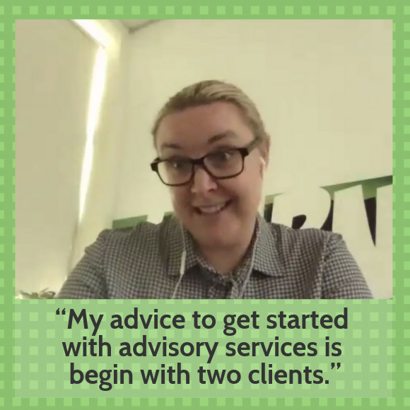 how to deliver advisory services with Steph Hinds